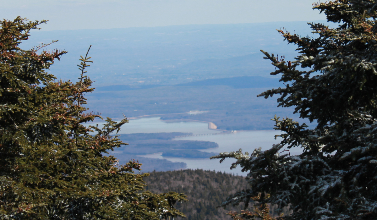 Ashokan Reservoir From Slide Mountain