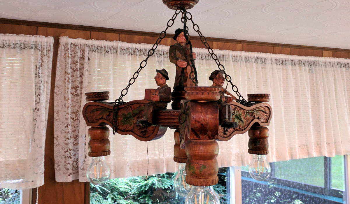 Hand carved chandelier